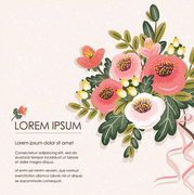 Vector illustration of a floral bouquet in spring