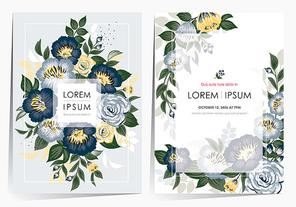 Vector illustration of a floral frame set in spring