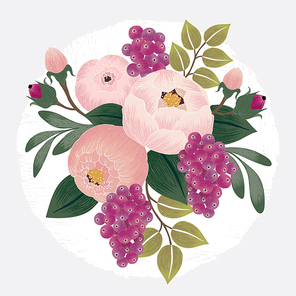 Vector illustration of a floral bouquet