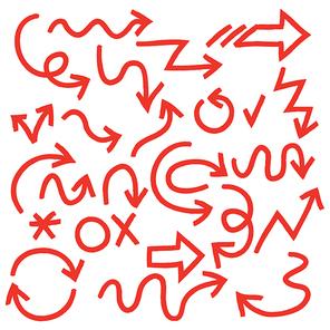 화살표 손그림 일러스트1