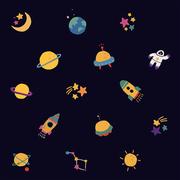 손그림 우주 패턴