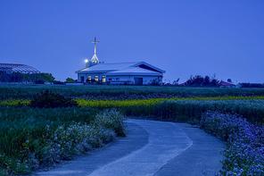 가파도 교회 야경